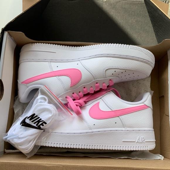 pila podar gravedad  Nike Shoes | Brand New Nike Air Force Sneakers Pink Swoosh | Poshmark